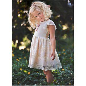 NEW Haute Baby Cute Eyelet Lace Girls Dress 2T 4 6